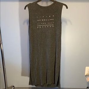 Forever 21 Gray PJ Dress